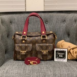 Authentic Louis Vuitton Manhattan NM Raisin
